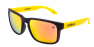 MATTE BLACK - FIRE-IRIDIUM POLARIZED - YELLOW EXTRA ARM