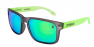 FROSTED BLACK / GREEN IRIDIUM POLARIZED