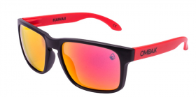 MATTE BLACK - RED IRIDIUM POLARIZED