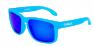 FROSTED BLUE / BLUE IRIDIUM POLARIZED / WHITE EXTRA ARM