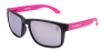 MATTE BLACK AND PINK / SILVER IRIDIUM POLARIZED