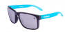 MATTE BLACK AND PINK / SILVER IRIDIUM POLARIZED / BLUE EXTRA ARM