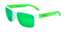 MATTE WHITE - GREEN IRIDIUM POLARIZED