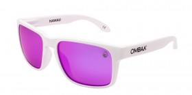 MATTE WHITE / VIOLET IRIDIUM POLARIZED