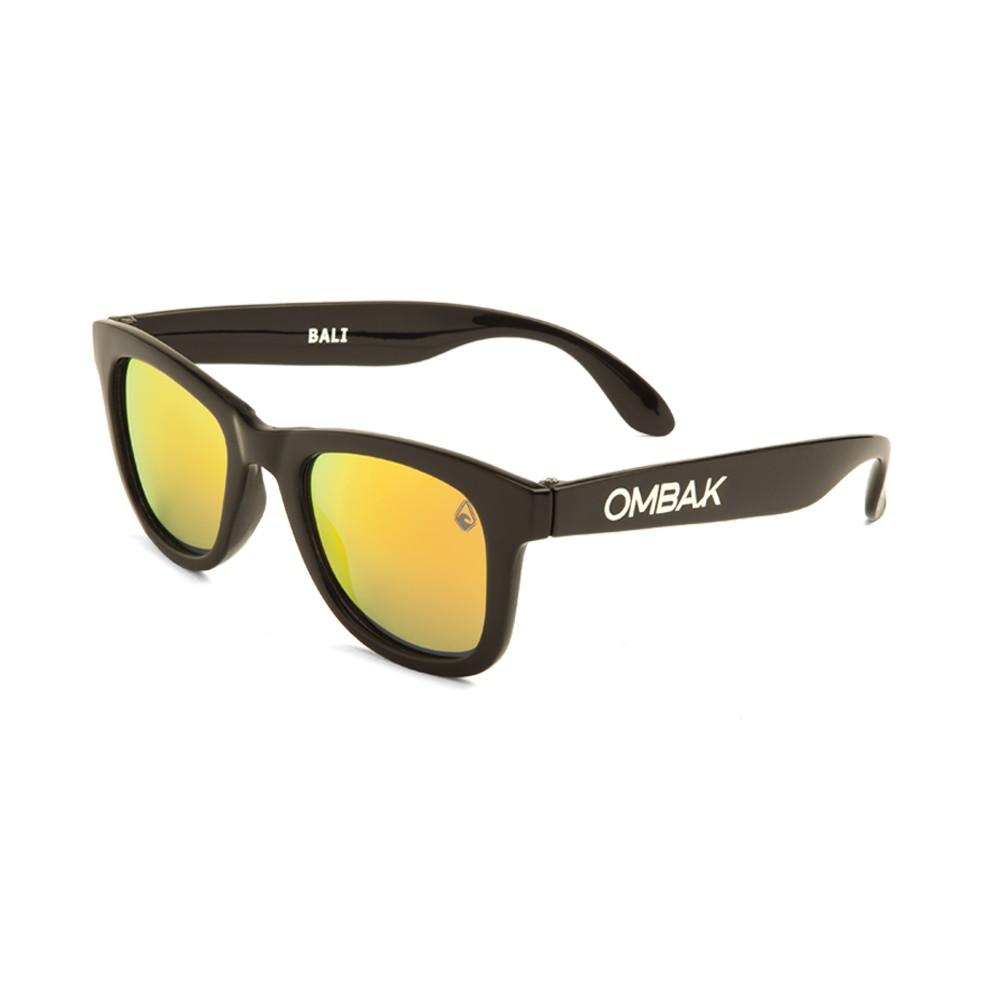 Polarized sunglasses Bali polished black and orange iridium lenses ec999be5f