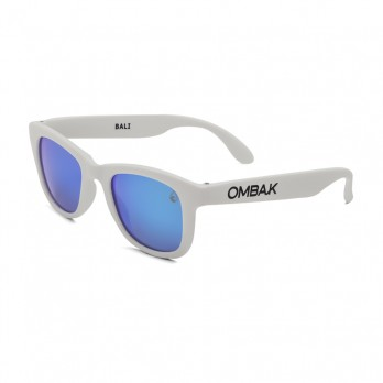 MATTE WHITE - BLUE IRIDIUM POLARIZED
