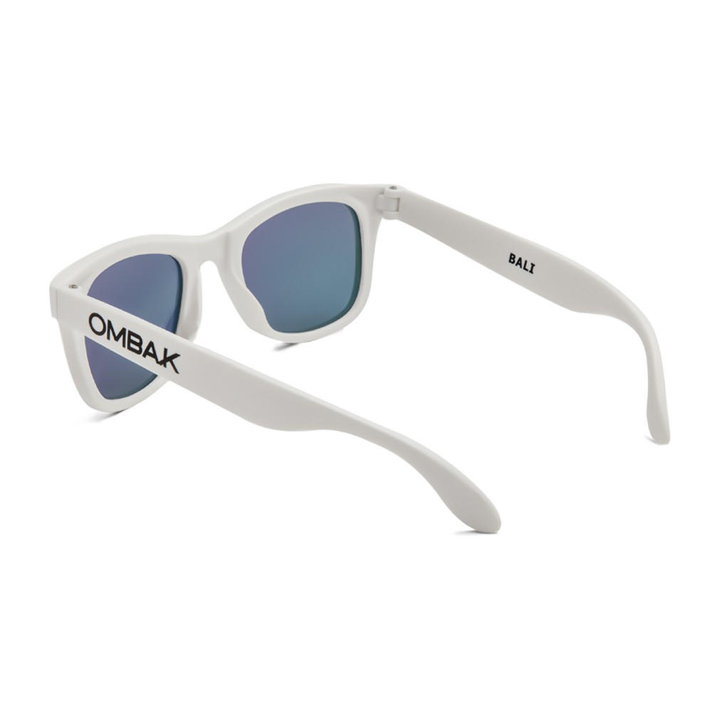 1d73464a88a Polarized sunglasses Bali matte white and blue iridium lenses