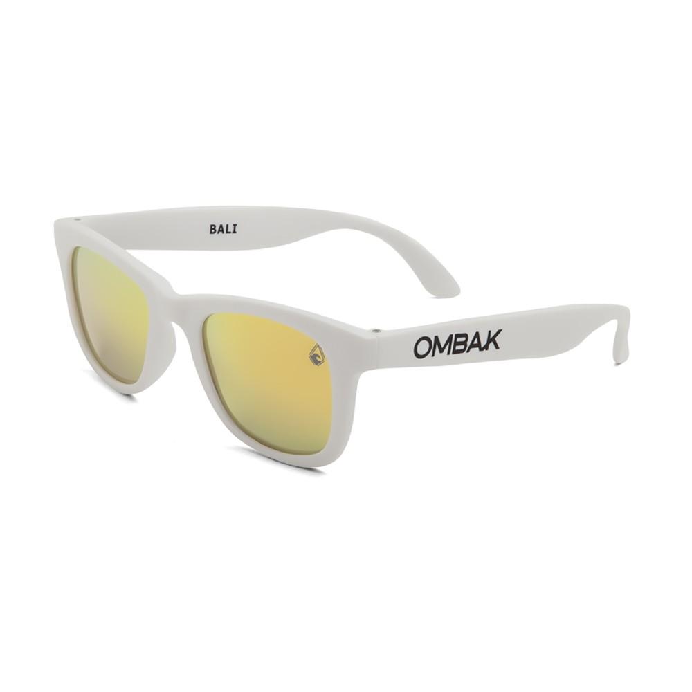 Polarized sunglasses Bali matte white and gold iridium lenses 70bbb4c99