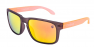 FROSTED BLACK / FIRE IRIDIUM POLARIZED / ORANGE EXTRA ARM