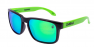 POLISHED BLACK / GREEN IRIDIUM POLARIZED