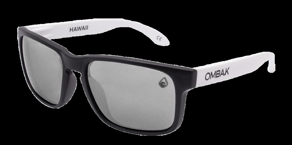 Gafas sol Polarizadas Hawaii negro mate lente gris patilla extra blanco