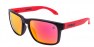 MATTE BLACK / RED IRIDIUM POLARIZED / RED EXTRA ARM