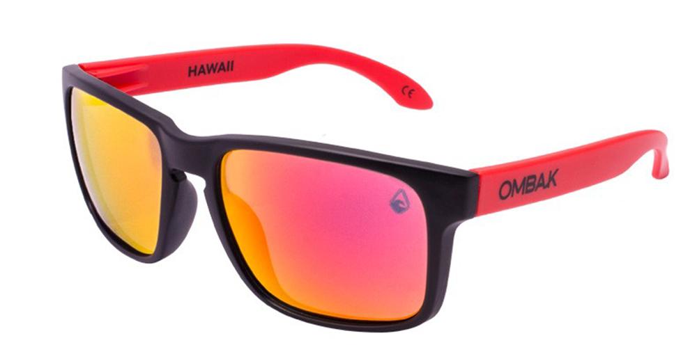 23419b0983f1b Gafas sol Polarizadas Hawaii mate negro lentes roja iridium extra roja