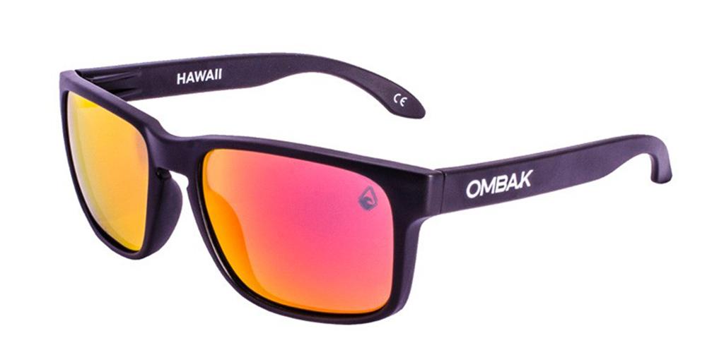 3067ea5f0 Gafas sol polarizadas hawaii brillo negro rojas iridium extra roja