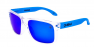 POLISHED CLEAR/BLUE IRIDIUM POLARIZED/BLUE EXTRA ARM