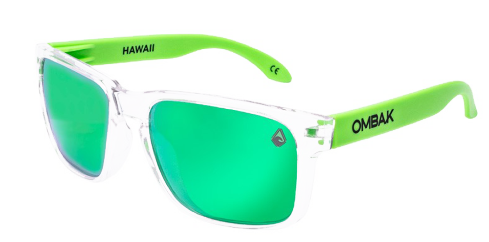 3a18d2c5ca gafas sol polarizadas hawaii brillo transparente verde iridium patilla