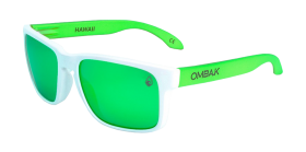 MATTE WHITE / GREEN IRIDIUM POLARIZED