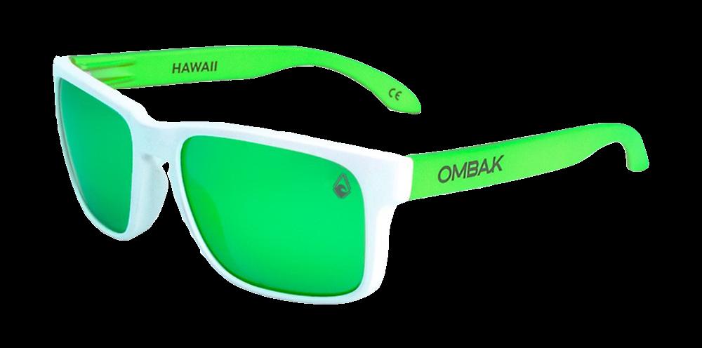 gafas sol polarizadas hawaii mate blanco verde iridium patilla extra