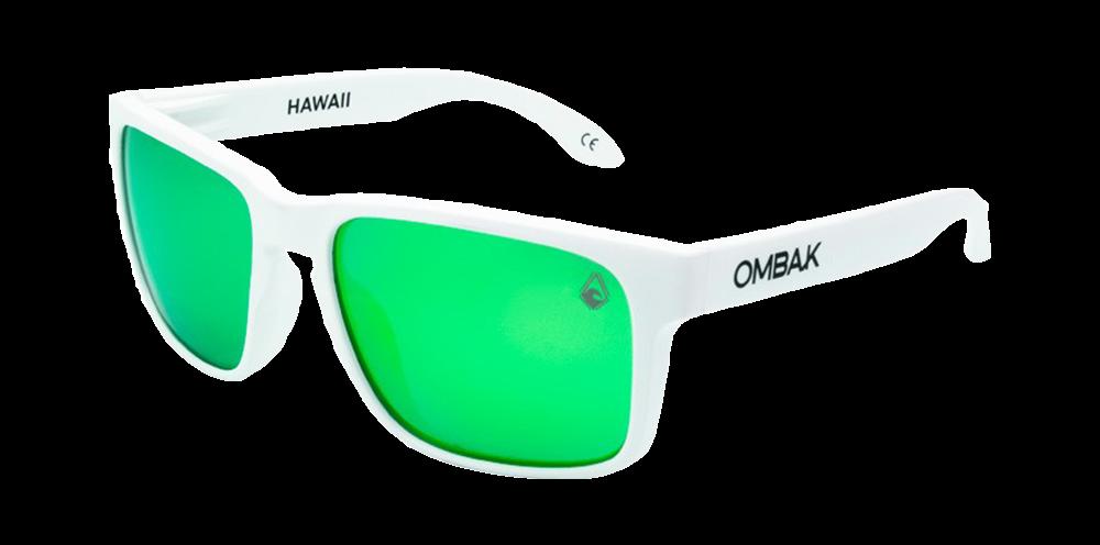beb32cda91 gafas sol polarizadas hawaii mate blanco verde iridium patilla extra