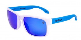 MATTE WHITE / BLUE IRIDIUM POLARIZED