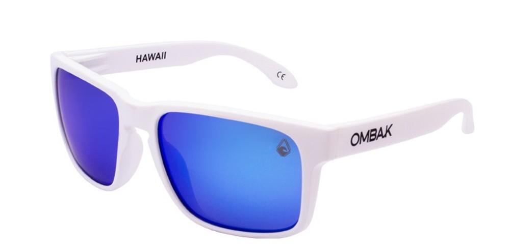 gafas sol polarizadas hawaii mate blancas azul iridium patilla extra